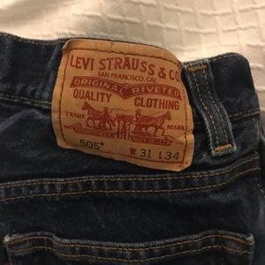 Levi's jeans  505  size 31 W 34 L